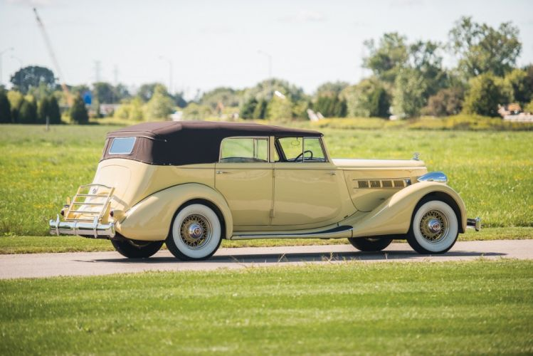 1935 Packard Eight Convertible Sedan RHD cars classic wallpaper