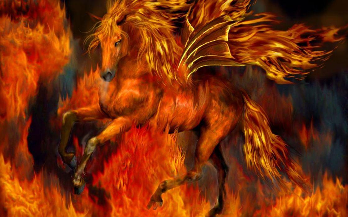 Fire Horse Red Wallpaper 1440x900 1016669 Wallpaperup