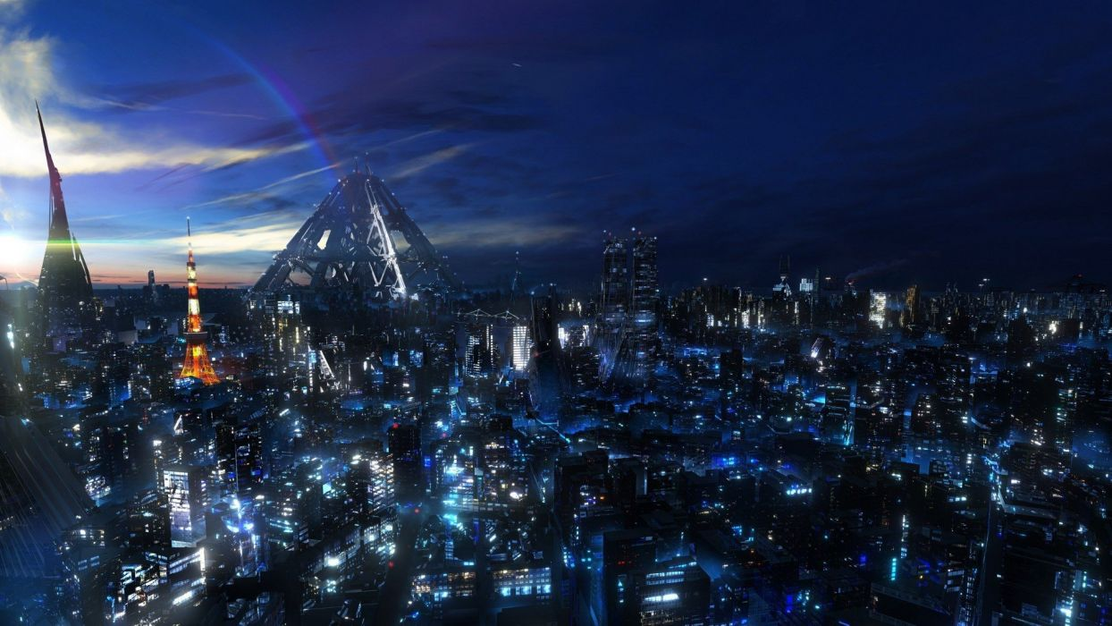 gallery anime future city guilty  wallpaper