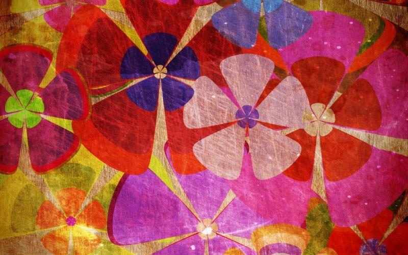 flowers texture raznotsvete bright background wallpaper