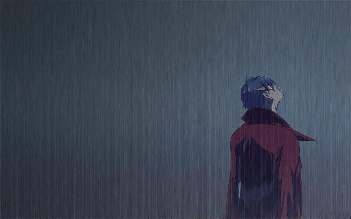 Anime Boy Rain Alone Wallpaper 1440x900 1016692 Wallpaperup