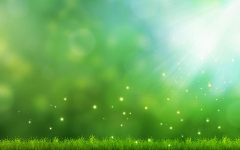 grass sparks light art green background wallpaper