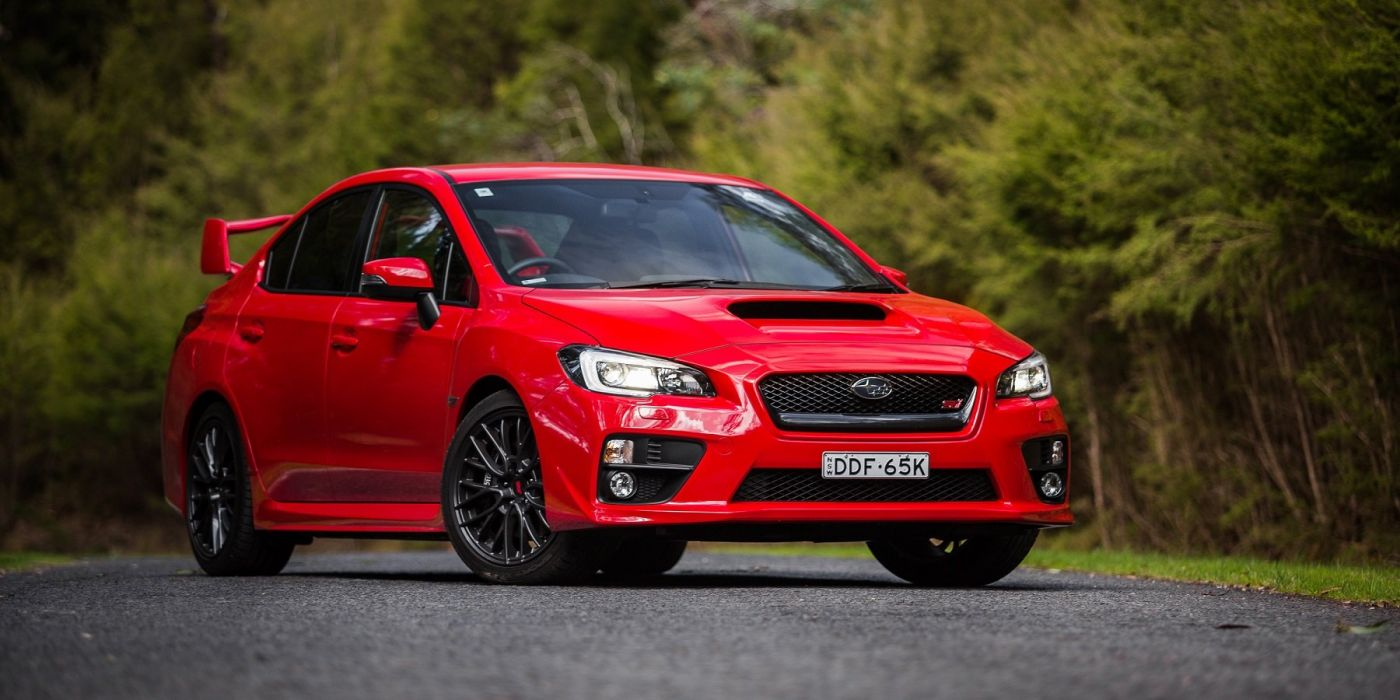 Subaru WRX STI AU-spec cars red 2014 wallpaper