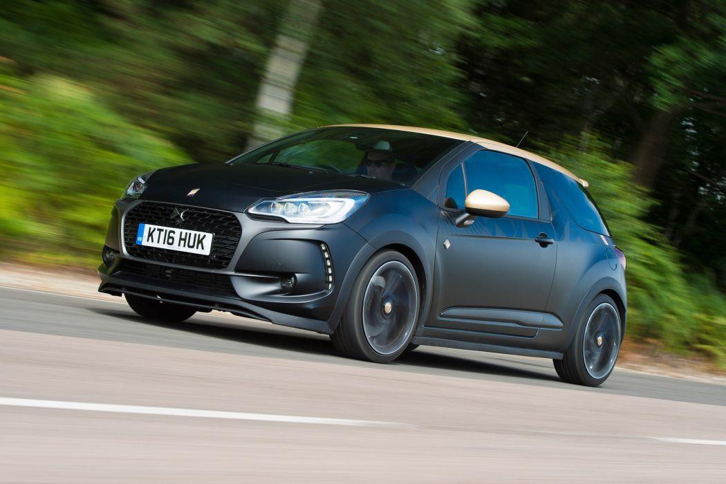 DS 3 Performance UK-spec cars black 2016 wallpaper
