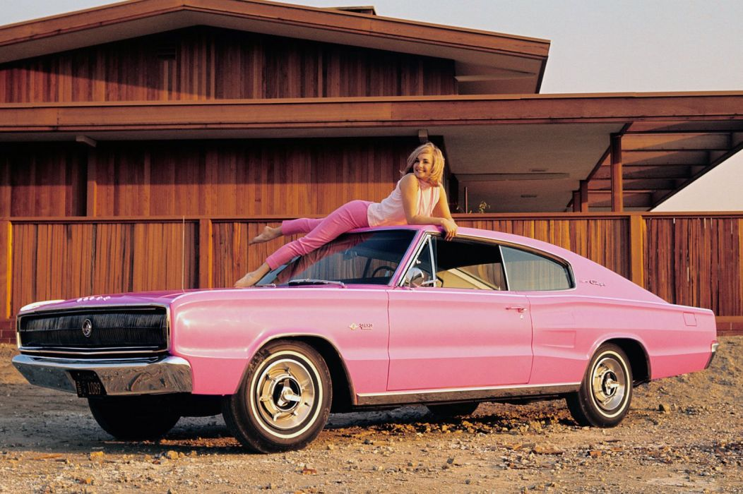 Dodge Charger 383 Playmate Pink 1966 wallpaper