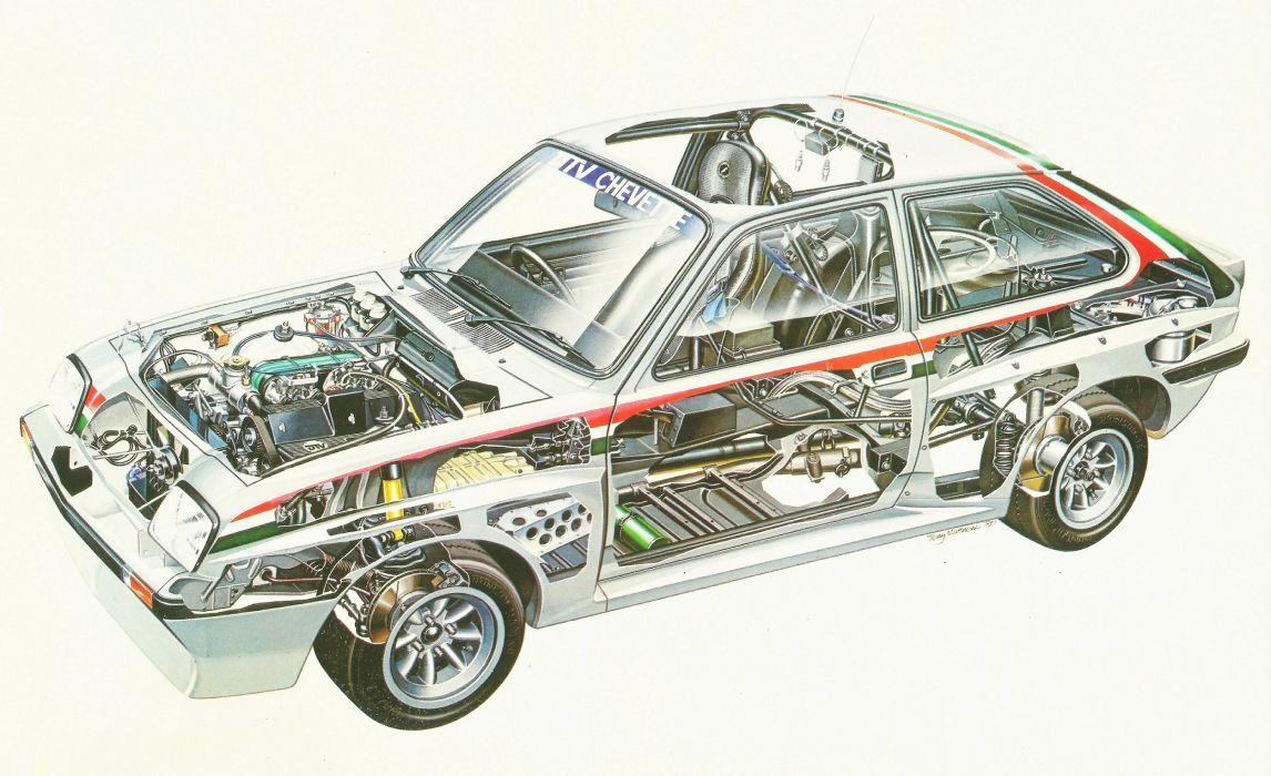Vauxhall Chevette 2300 HS Rally Car 1979 cars racecars cutaway wallpaper