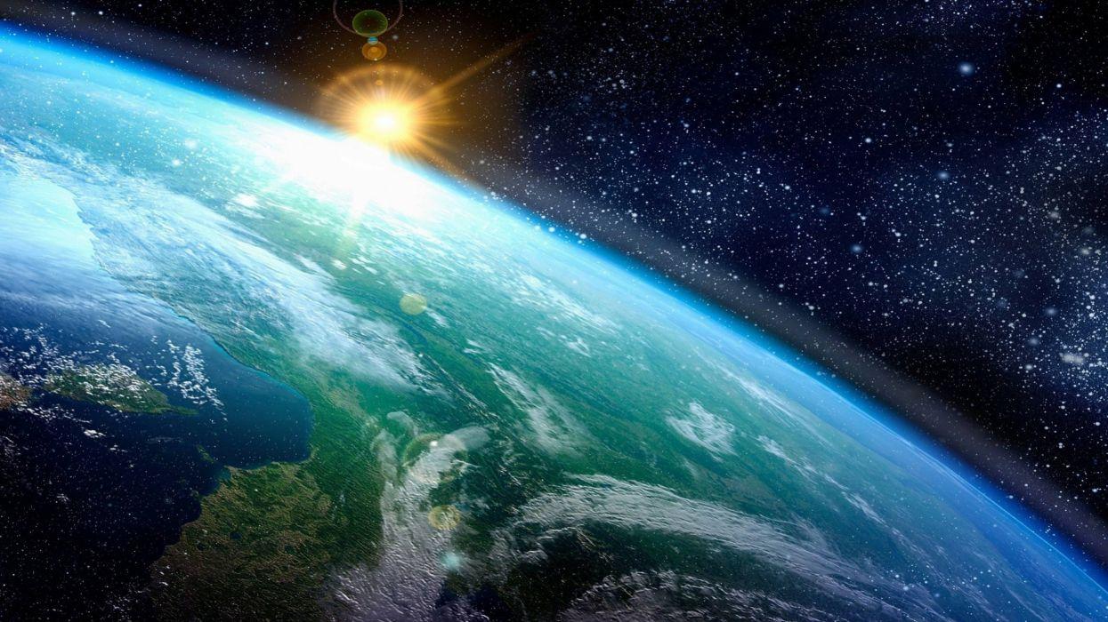earth amazing beauty space sun  wallpaper