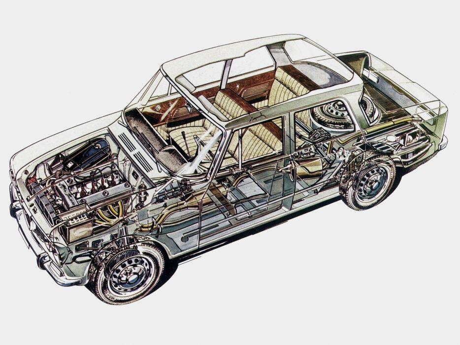 Alfa Romeo Giulia T I (105) cars cutaway 1962 wallpaper