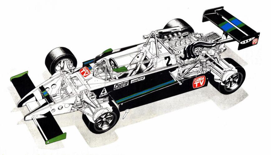 March 803 race cars cutaway 1980 wallpaper