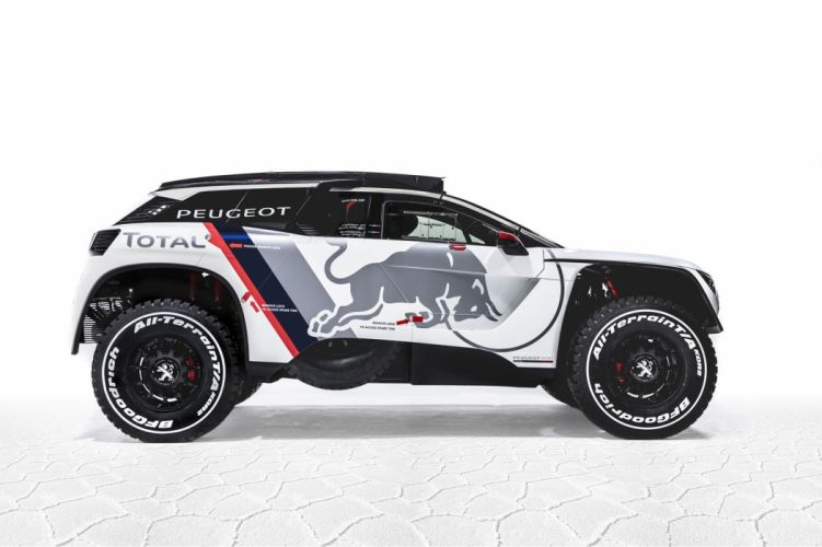 Peugeot 3008 DKR cars racecars rally red 2017 wallpaper