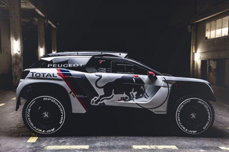 Peugeot 3008 DKR cars racecars rally red 2017 wallpaper