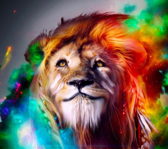 Lion Art-wallpaper-10159617 HD27 sm2 wallpaper