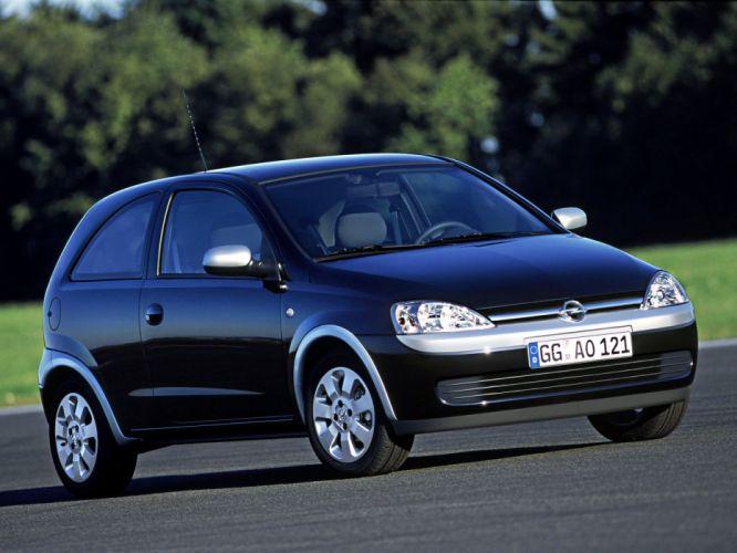 Opel Corsa Black & Silver 2002 wallpaper