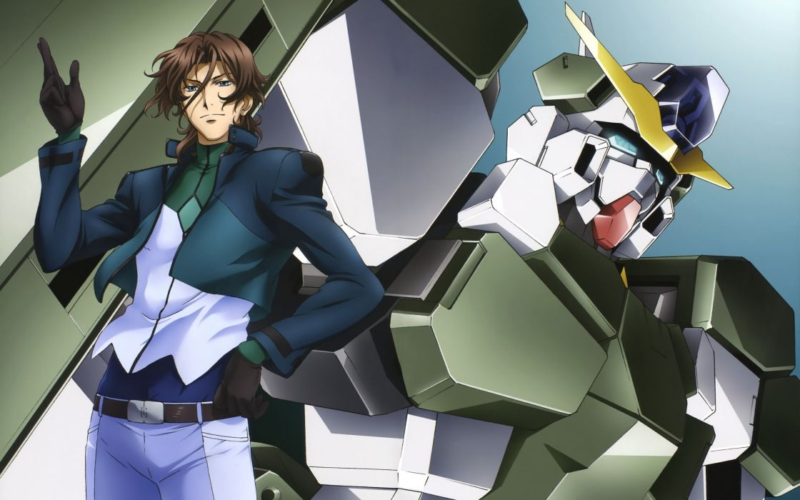anime series guy lyle dylandy robot gesture background wallpaper