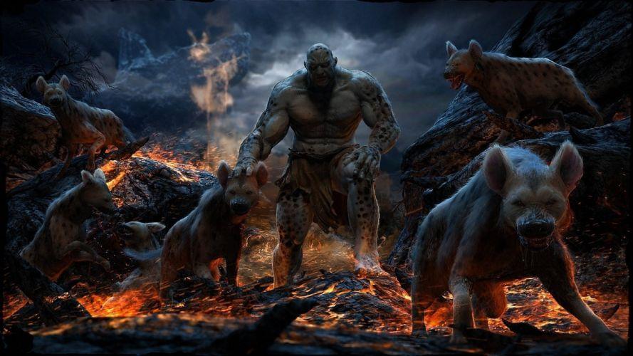 lava monster art fire rocks animals mahmoud salah ali wallpaper