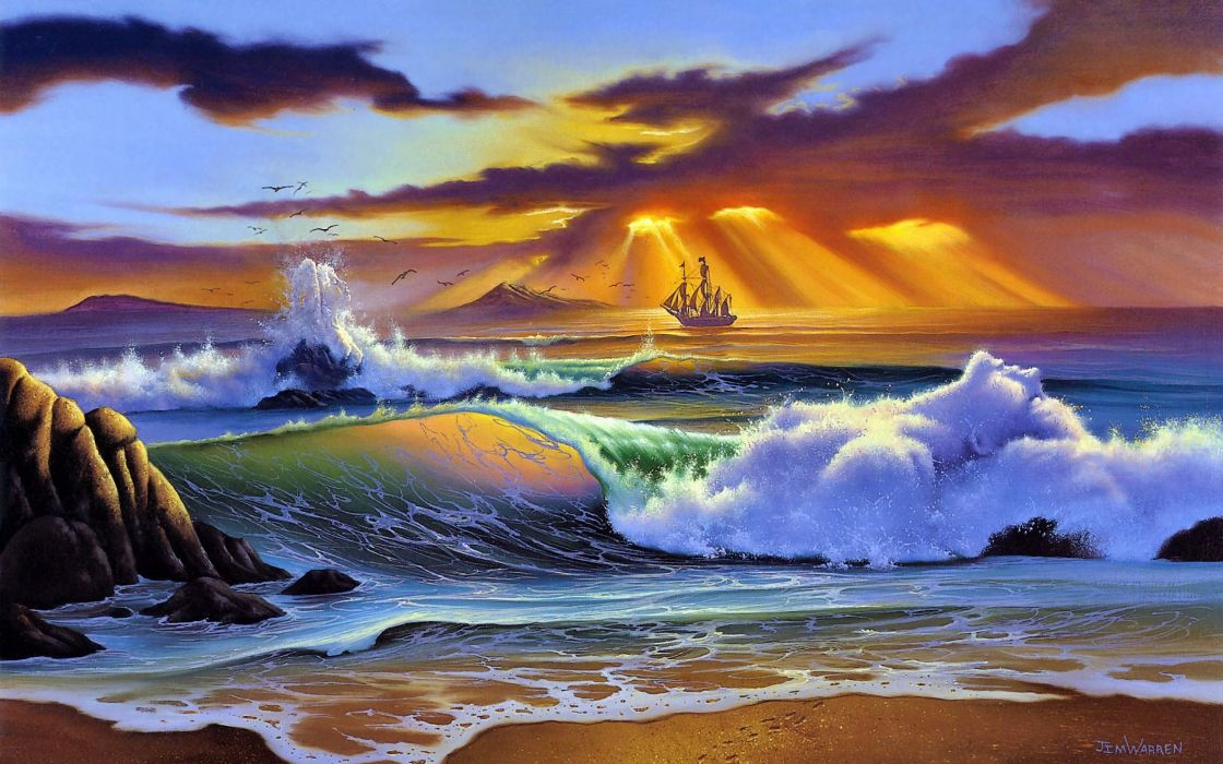 landscape-painting-art-wallpaper wallpaper