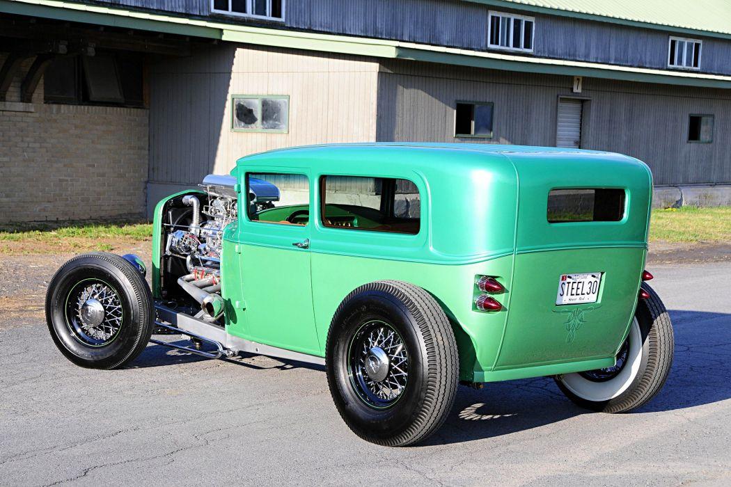 1930 Ford Sedan hot rod cars green wallpaper