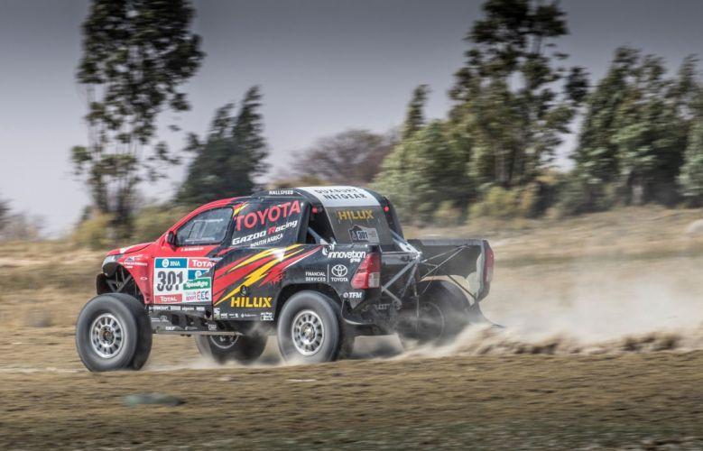 Toyota Hilux Evo Rally Dakar 4x4 racecars cars 2017 wallpaper