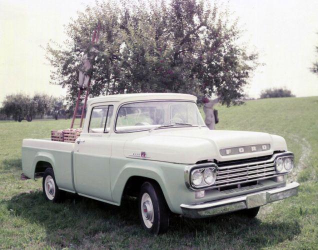 1959 Ford F-100 Custom Cab Styleside truck Pickup wallpaper