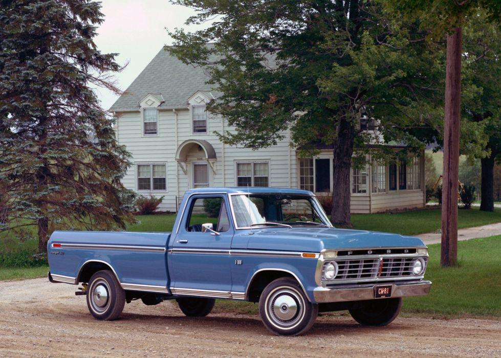 1973 Ford F-100 Styleside Pickup Ranger XLT truck wallpaper