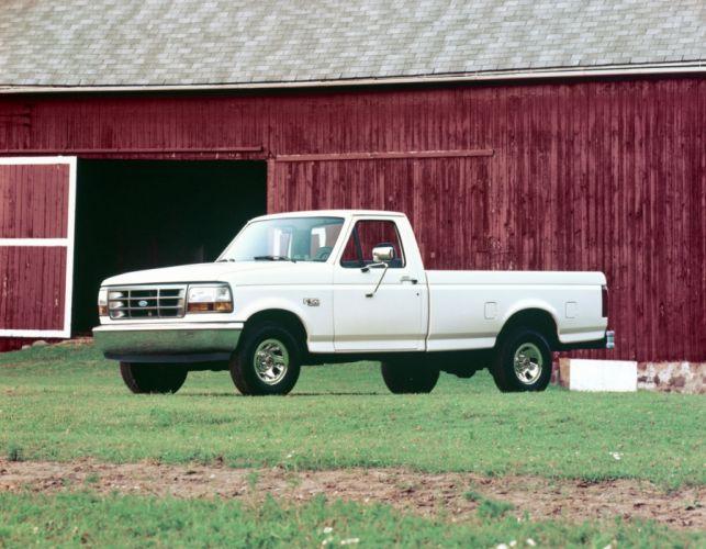 1992 Ford F-150 Custom Pickup truck wallpaper