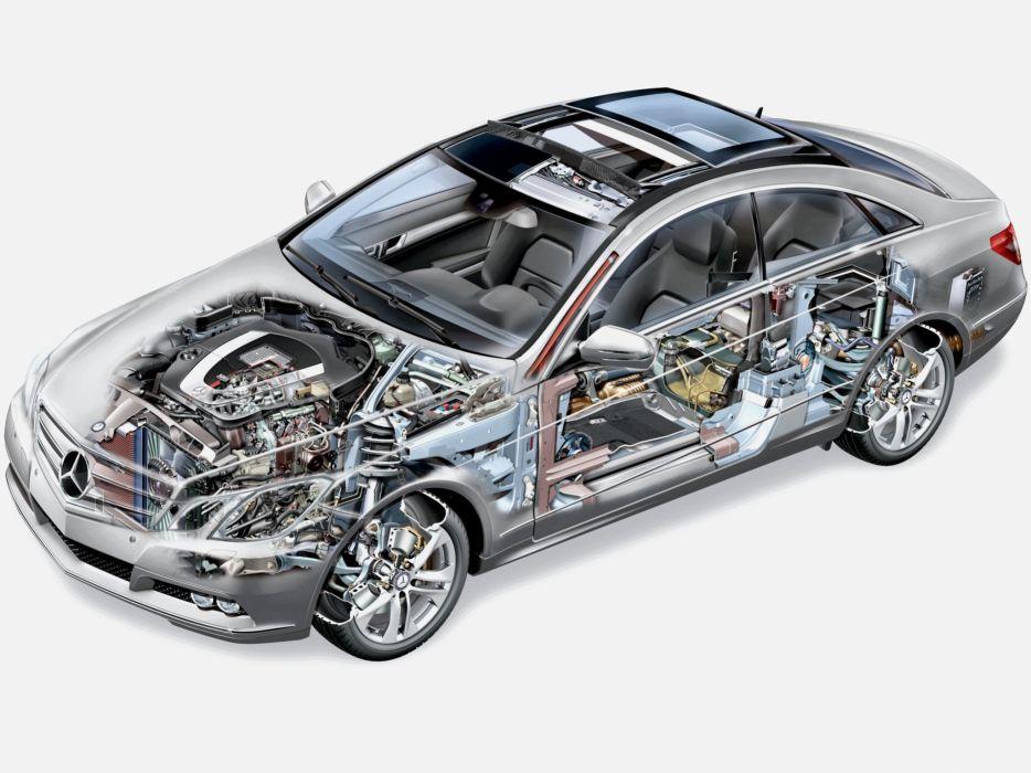 Mercedes Benz E 350 CGI Coupe (C207) cars cutaway 2009 wallpaper
