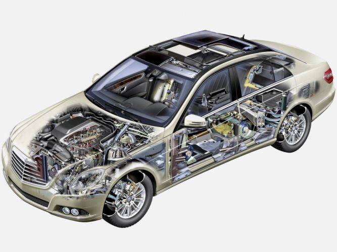 Mercedes Benz E 220 CDI (W212) cars cutaway 2009 wallpaper