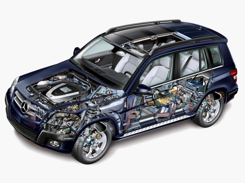 Mercedes Benz GLK Klasse (X204) cars suv cutaway 2008 wallpaper