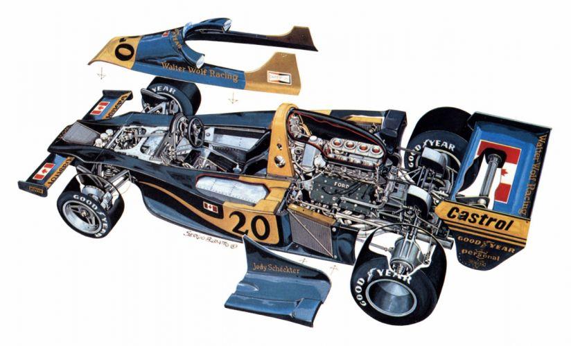 Wolf WR1 cars racecars cutaway 1977 wallpaper