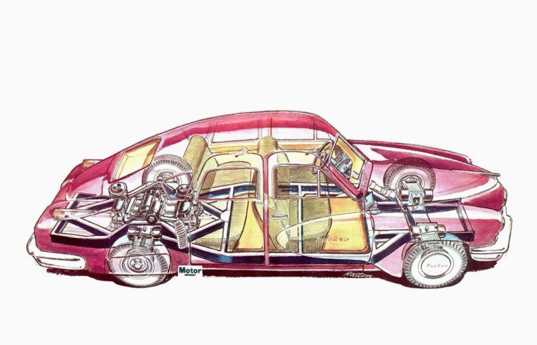 1948 Tucker Sedan cars cutaway wallpaper