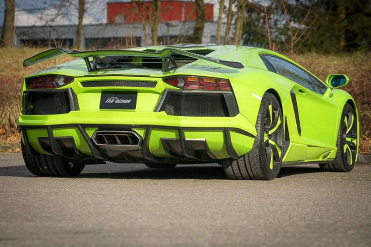 FAB Design Lamborghini Aventador LP700-4 cars green modified Spidron 2014 wallpaper