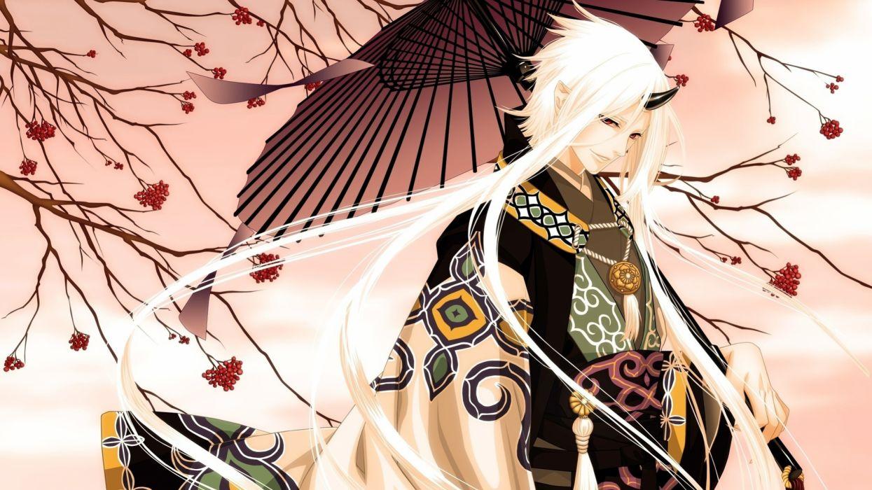 demons peaceful anime story girl kimono smiling blonde 27676 3840x2160 wallpaper