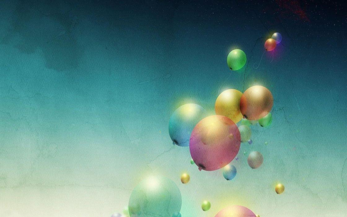 air minimalism color art balloons wallpaper