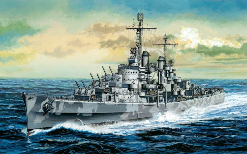 light art atlas ship type navy cruiser wallpaper