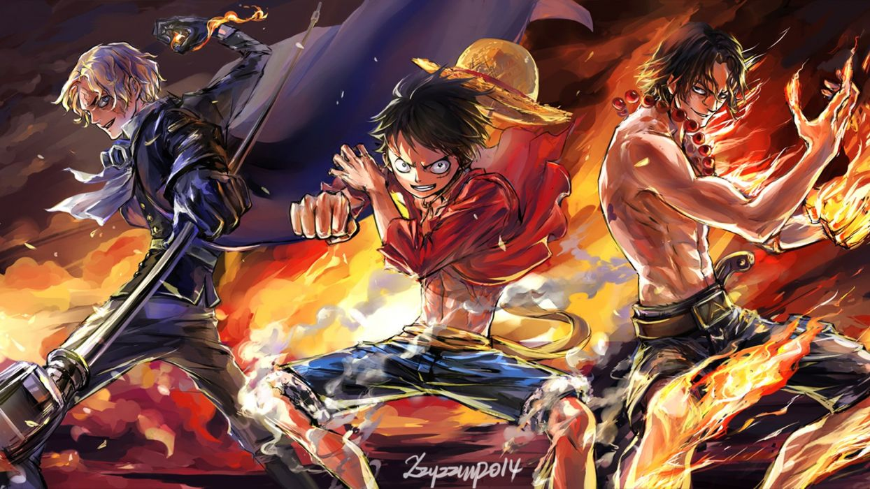 one piece luffy ace sabo wallpaper | 1920x1080 | 1017661 | wallpaperup