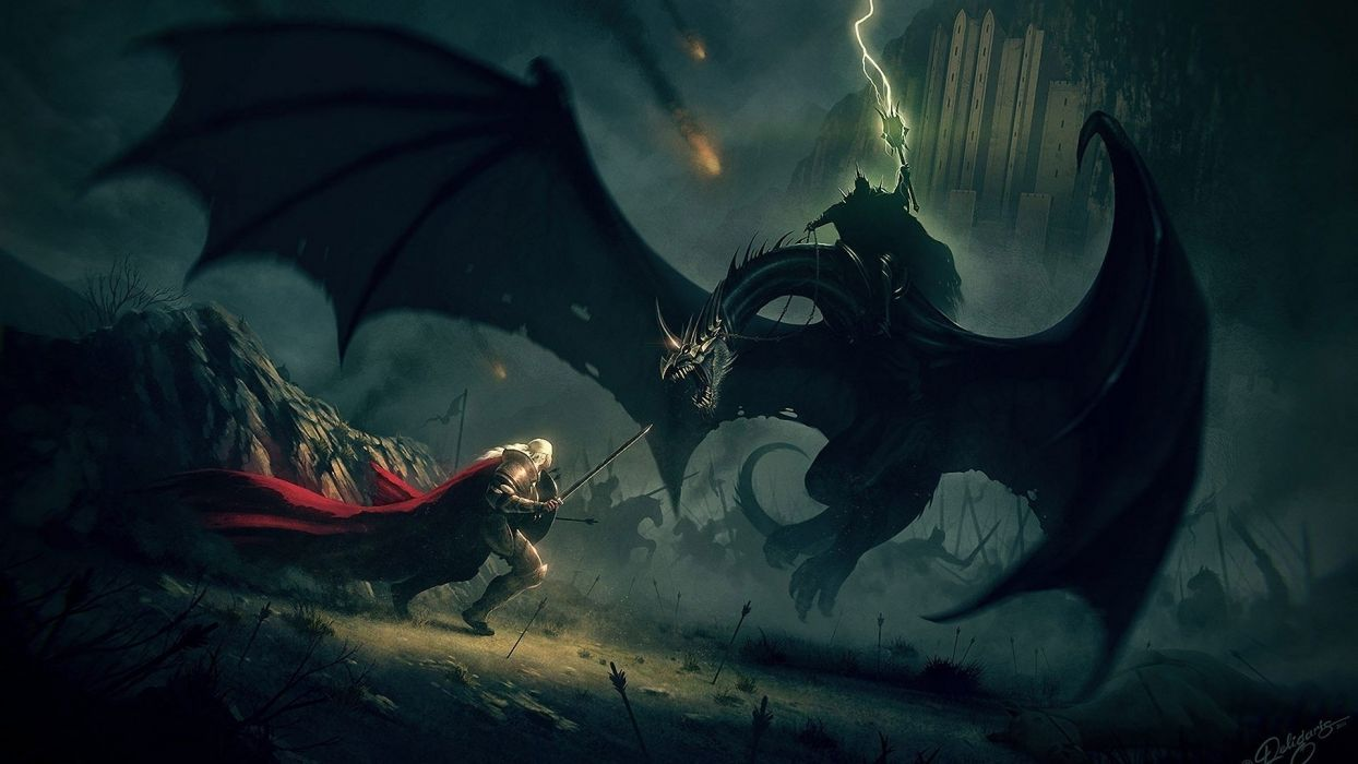 nazgul the lord of the rings nick deligaris fanyasy wallpaper