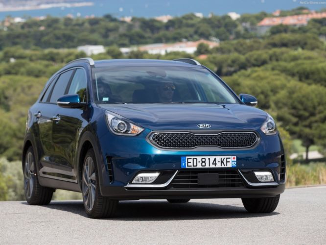 EU-Version 2016 cars hybrid kia niro suv blue wallpaper