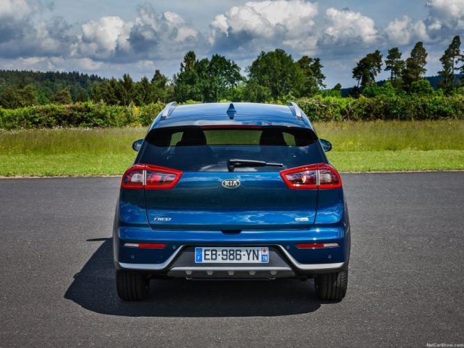 EU-Version 2016 cars hybrid kia niro suv blue wallpaper