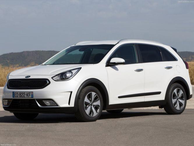 EU-Version 2016 cars hybrid kia niro suv white wallpaper