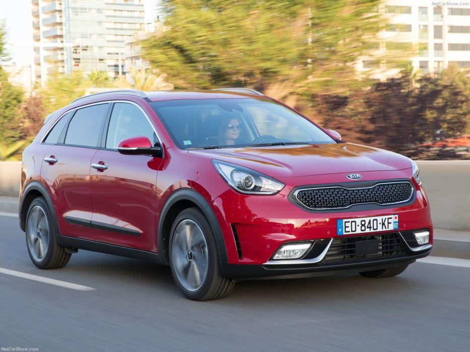 EU-Version 2016 cars hybrid kia niro suv red wallpaper