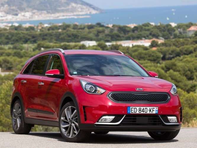 EU-Version 2016 cars hybrid kia niro suv red wallpaper