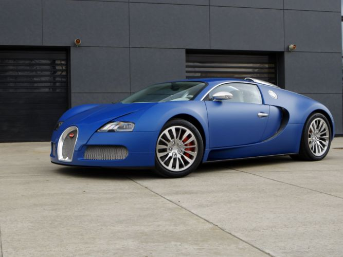 Bugatti Veyron Bleu Centenaire 2009 wallpaper