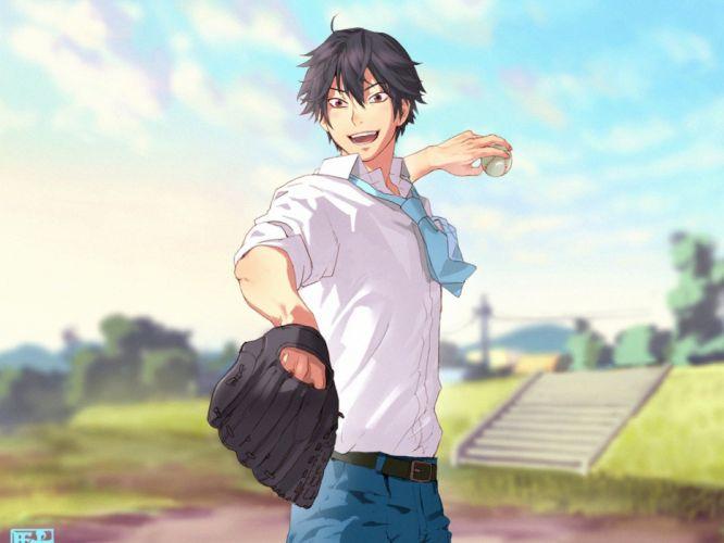ookiku furikabutte takaya abe guy shirts baseball glove joy wallpaper