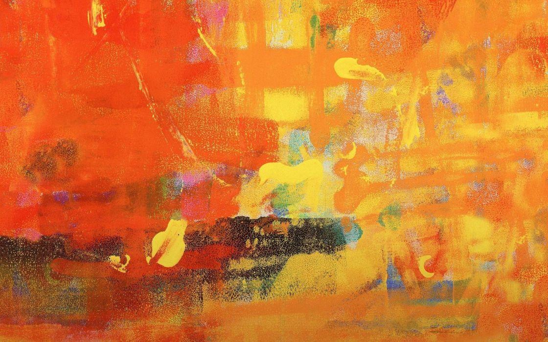 Orange art painting retina texture wallpaper