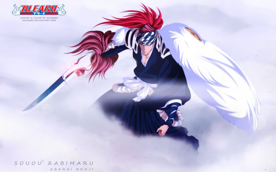 renji abarai new bankai anime series character boy wallpaper