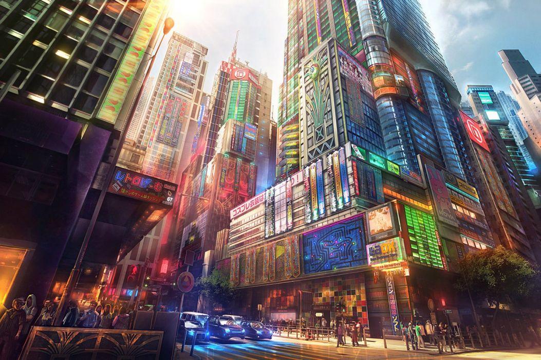 Scenery Anime City Street wallpaper