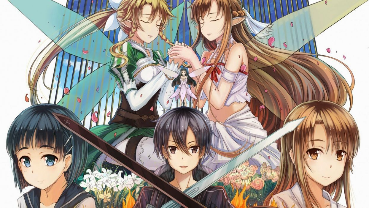 kirito asuna sword art online anime wallpaper
