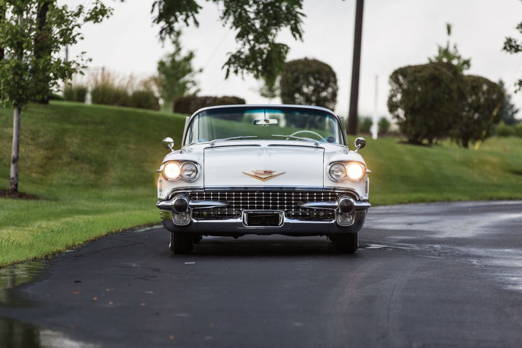 1958 Cadillac Sixty-Two Convertible white cars classic wallpaper