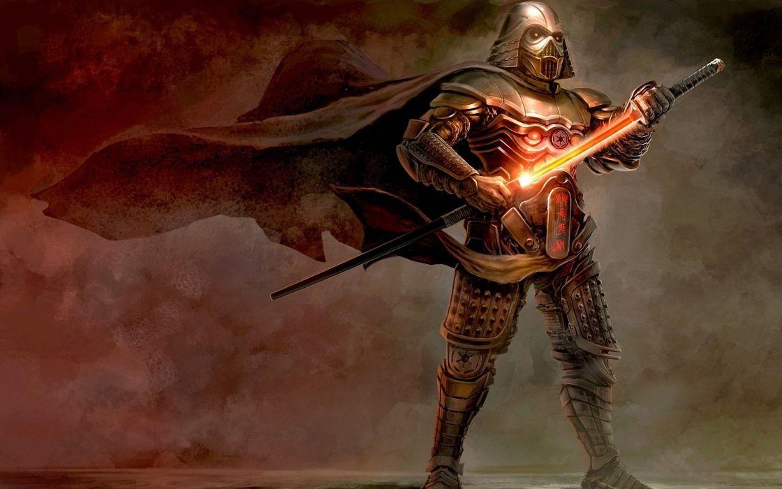 Vader Raincoat Wind Art Sword Samurai Armor Star Wars Helmet Darth Vader Wallpaper 1920x1200 1018032 Wallpaperup