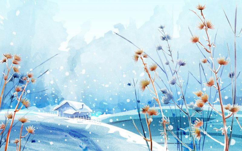 winter scenery wallpaper